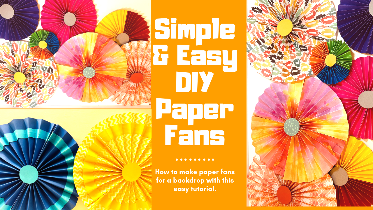How to make cute Paper fans~ DIY Easy B'day Party Decoration