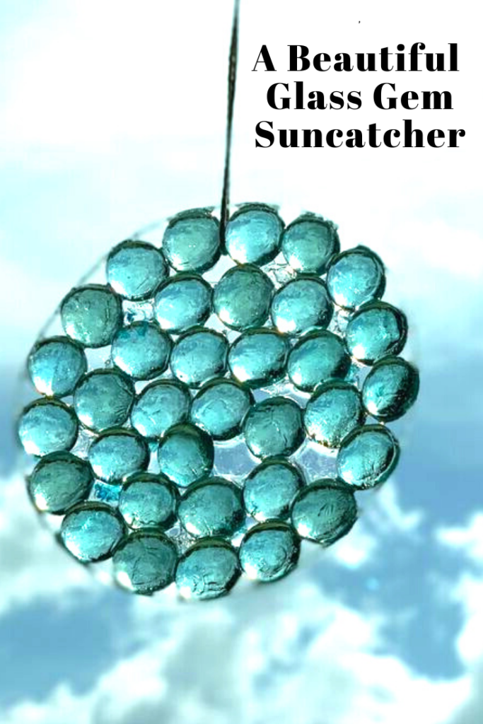 Glass gem stone suncatcher