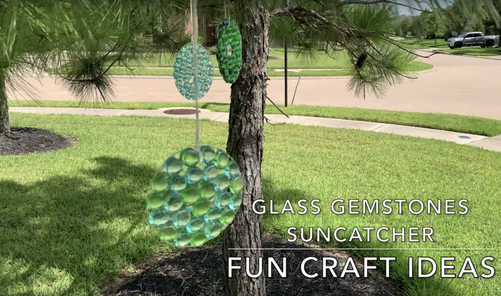 Dollar tree Glass gemstone Diy
